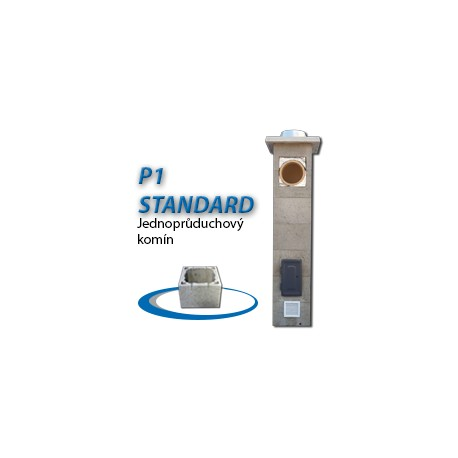 Komínová sestava STANDARD P1, 8 m, 180-90°, 1x čistič