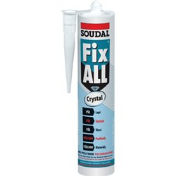 Tmel lepicí pružný Fix All crystal 290ml - Soudal
