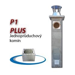 Komínová sestava PLUS P1, 8 m, 180-90°, 1x čistič
