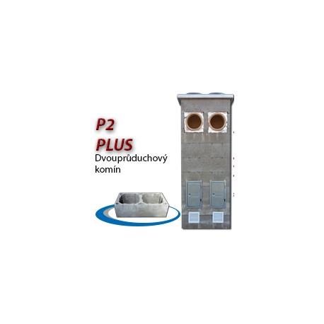 Komínová sestava PLUS P2, 8 m, 180-90°/180-90°, 2x čistič