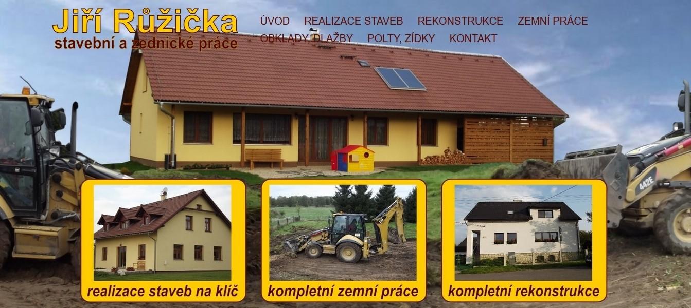 stavební práce Růžička